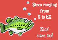 Sizes ranging from small to 6x and kids sizes