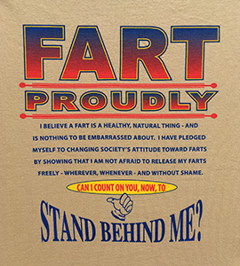 Fart proudly